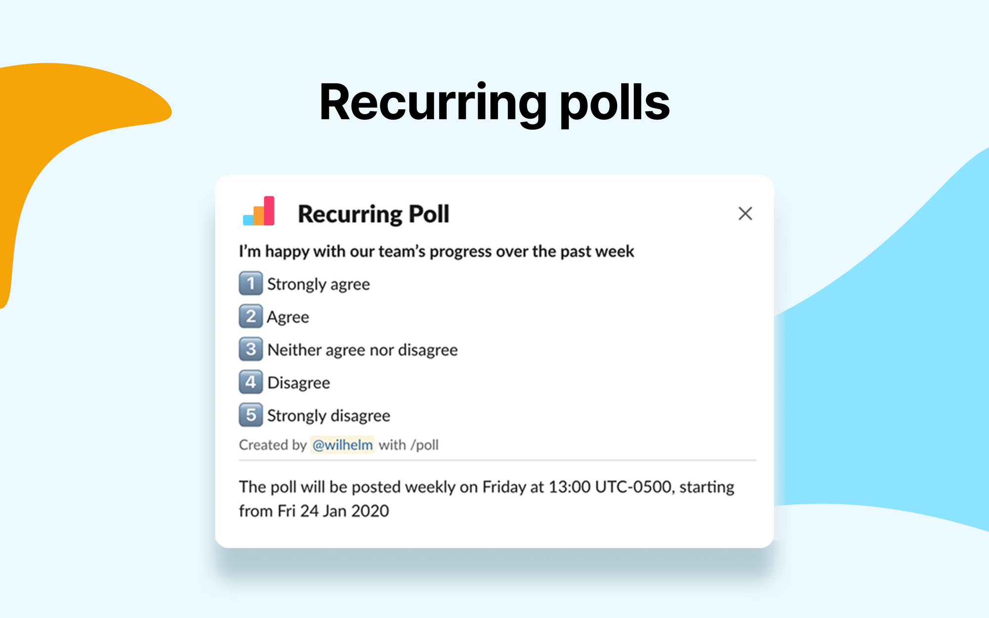 Introducing Recurring Polls