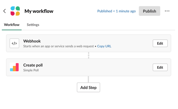 Automate polls with Slack's workflow builder