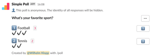 Emojis in anonymous polls